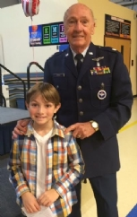 Post Quartermaster, LtCol Roger Emmick (Retired Air Force) served as a guest speaker for the Veterans Day Assembly at Folsom School. The school offers veterans free breakfasts before the assemble.