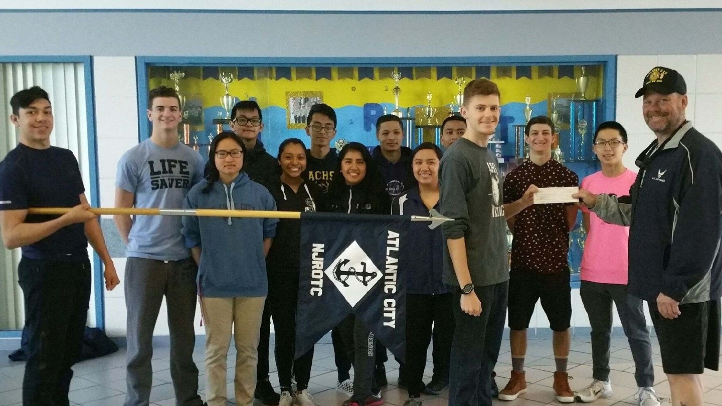 The Atlantic City High Schools Navy JROTC unit Travel Fund assistance.