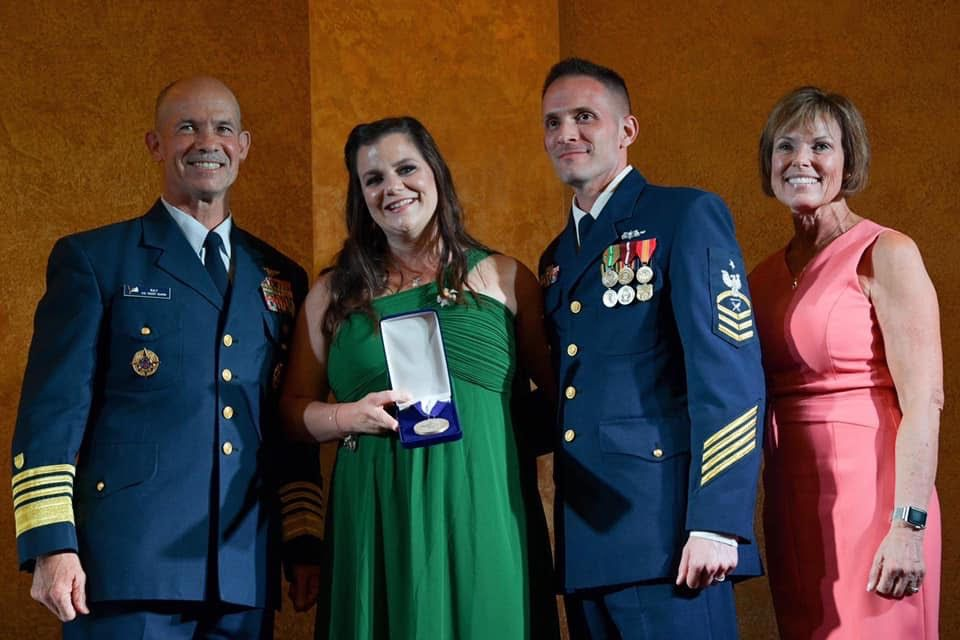 Coast Guard Spouse of the Year Jessica Manfre - 1st Master Level full online scholarship - University of Central Florida. Plans on working as a counselor at the VA.