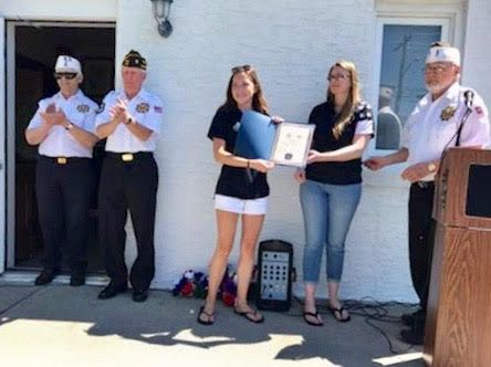 Mainland High School graduate & VFW Auxiliary Life Member Rachel-Schulte-Doody. A 2nd year $5000 scholarship to Rutgers University, New Brunswick.