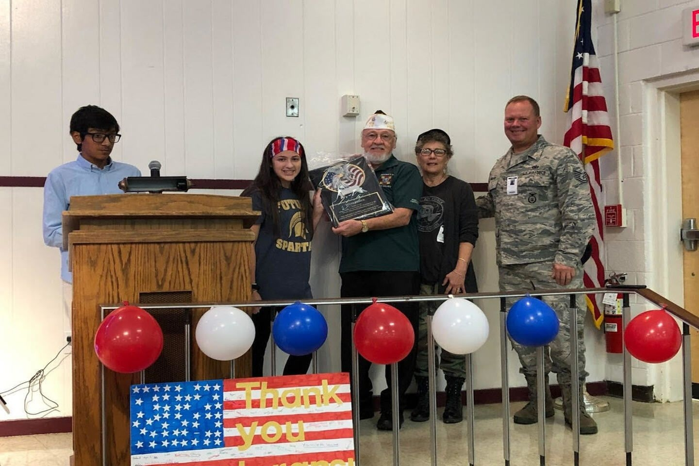 Quartermaster Emmick receives plaque for years of maintaining a close link between the VFW and VECC